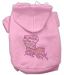 Louisiana Rhinestone Hoodie Light Pink XS