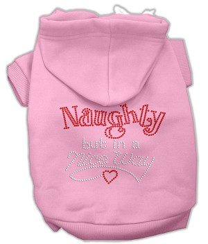 Naughty But Nice Rhinestone Hoodie Light Pink XL (16)