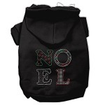 Noel Rhinestone Hoodies Black XL