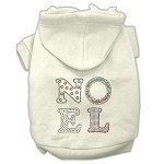 Noel Rhinestone Hoodies Cream XL