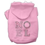 Noel Rhinestone Hoodies Light Pink XS