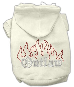 Outlaw Rhinestone Hoodies Cream XXL