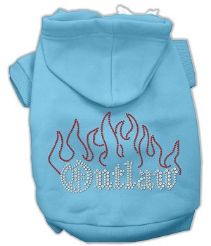 Outlaw Rhinestone Hoodies Baby Blue XL (16)