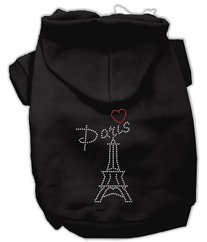 Paris Rhinestone Hoodies Black L (14)