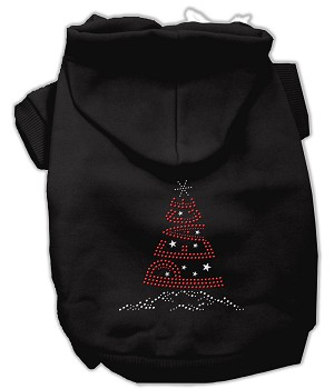 Peace Tree Rhinestone Hoodies Black XL