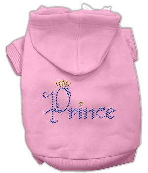 Prince Rhinestone Hoodies Light Pink XS (8)
