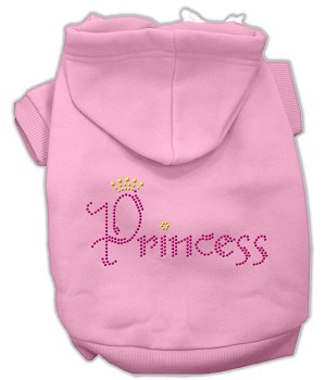 Princess Rhinestone Hoodies Light Pink S (10)