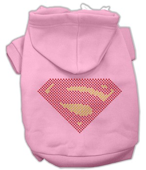 Super! Rhinestone Hoodies Light Pink S (10)