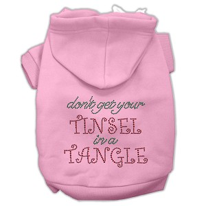 Tinsel in a Tangle Rhinestone Hoodies Light Pink M (12)