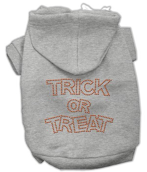 Trick or Treat Rhinestone Hoodies Grey M (12)
