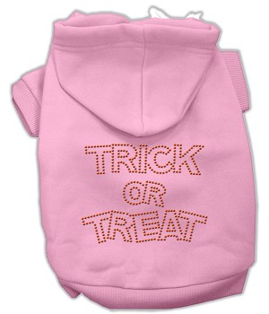 Trick or Treat Rhinestone Hoodies Pink XS (8)