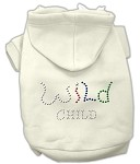 Wild Child Rhinestone Hoodies Cream XS