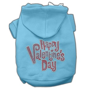 Happy Valentines Day Rhinestone Hoodies Baby Blue S (10)