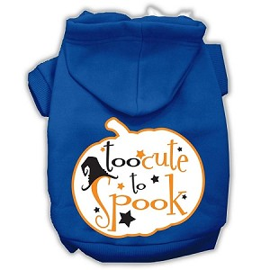 Too Cute to Spook Screenprint Hoodie Blue XXXL(20)