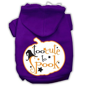 Too Cute to Spook Screenprint Hoodie Purple XXXL(20)