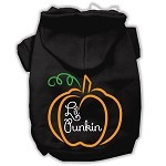Lil Punkin Screenprint Hoodie Black XS