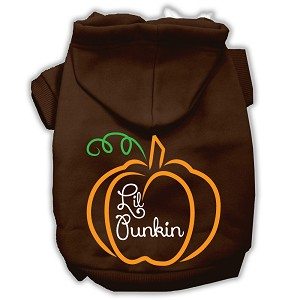 Lil Punkin Screenprint Hoodie Brown XL