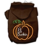 Lil Punkin Screenprint Hoodie Brown XS