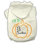 Lil Punkin Screenprint Hoodie Cream XS
