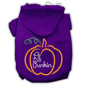 Lil Punkin Screenprint Hoodie Purple L