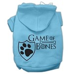 Game of Bones Screenprint Dog Hoodie Baby Blue XS (8)