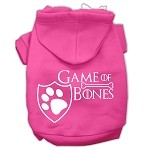 Game of Bones Screenprint Dog Hoodie Bright Pink XS (8)