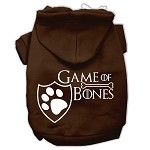 Game of Bones Screenprint Dog Hoodie Brown XS (8)