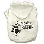 Game of Bones Screenprint Dog Hoodie Cream XS (8)