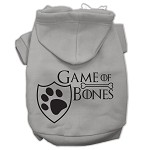 Game of Bones Screenprint Dog Hoodie Grey XS (8)