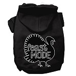 Feast Mode Screen Print Dog Hoodie Black XS