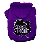 Feast Mode Screen Print Dog Hoodie Purple XS