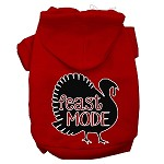 Feast Mode Screen Print Dog Hoodie Red XS