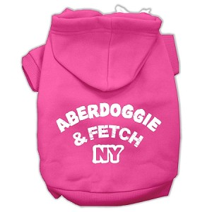 Aberdoggie NY Screenprint Pet Hoodies Bright Pink Size XXXL (20)