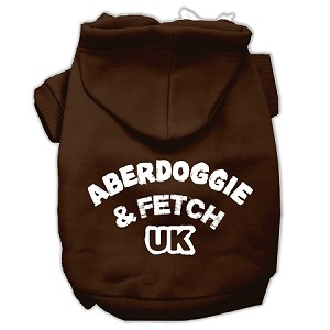 Aberdoggie UK Screenprint Pet Hoodies Brown Size Lg (14)
