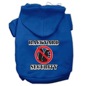 Backyard Security Screen Print Pet Hoodies Blue XXL (18)