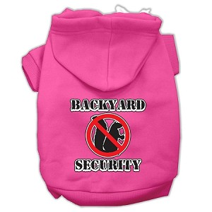 Backyard Security Screen Print Pet Hoodies Bright Pink Size M (12)