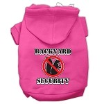 Backyard Security Screen Print Pet Hoodies Bright Pink Size S (10)