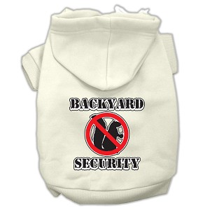 Backyard Security Screen Print Pet Hoodies Cream Size XXXL(20)