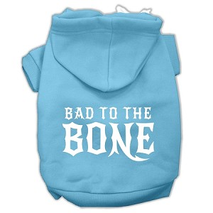 Bad to the Bone Dog Pet Hoodies Baby Blue Size Sm (10)