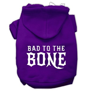 Bad to the Bone Dog Pet Hoodies Purple Size XXL (18)