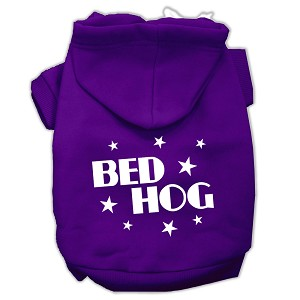 Bed Hog Screen Printed Pet Hoodies Purple Size XXXL (20)