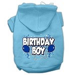 Birthday Boy Screen Print Pet Hoodies Baby Blue Size Med (12)