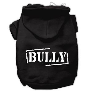 Bully Screen Printed Pet Hoodies Black Size XS (8)