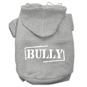 Bully Screen Printed Pet Hoodies Grey Size XS (8)