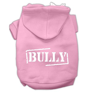 Bully Screen Printed Pet Hoodies Light Pink Size XL (16)
