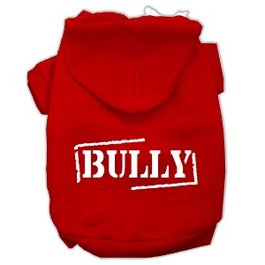 Bully Screen Printed Pet Hoodies Red Size XXXL (20)