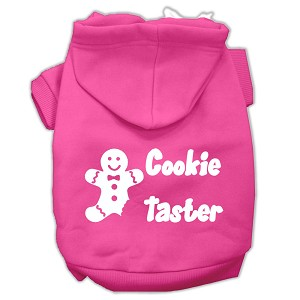 Cookie Taster Screen Print Pet Hoodies Bright Pink Size XL (16)