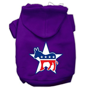 Democrat Screen Print Pet Hoodies Purple Size Lg (14)