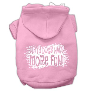 Dirty Dogs Screen Print Pet Hoodies Light Pink Size XS (8)
