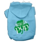 Irish Pup Screen Print Pet Hoodies Baby Blue Size XS (8)